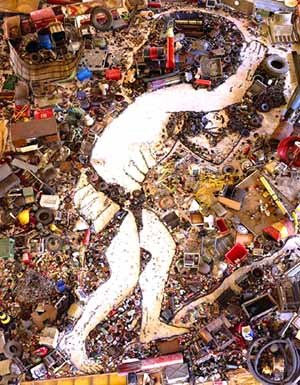 Vik Muniz: <EM>Sisyphus, after Titian</EM>Photo courtesy of Museum of Contemporary Art San Diego