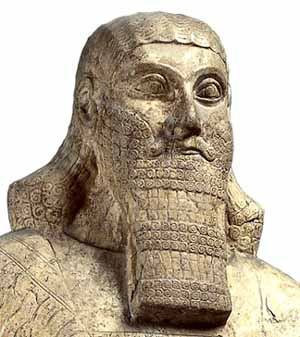 Statue of Ashurnasirpal II, 883-859 BC, from Nimrud (ancient Kalhu), northern IraqPhoto courtesy of British Museum