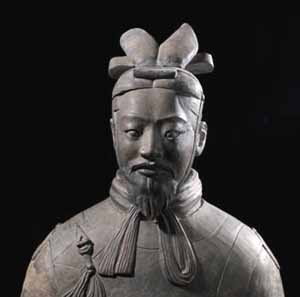 Terracotta warrior from Xi'an, China (detail)Photo courtesy of the British Museum