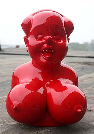 GAO Brothers: <EM>Miss Mao No.3, </EM>2007Size: 58x38x36cmMaterial:Painted fiberglassed.3/8Photo courtesy of Galerie Albert Benamou
