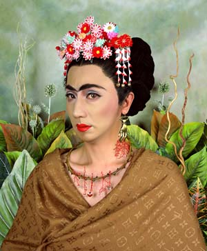 <SPAN class=bildunterschrift>Yasumasa Morimura: <EM>Inner Dialogue with Frida Kahlo</EM> (Dialogue with Myself, Cropped Hair, Handshaped Earring), © Yasumasa MorimuraPhoto courtesy of  Reflex New Art Gallery</SPAN>