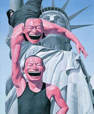 <P>Yue Minjun: <EM>Lady Liberty</EM>Photo courtesy of Queens Museum of Art</P> • <P><EM></EM> </P>