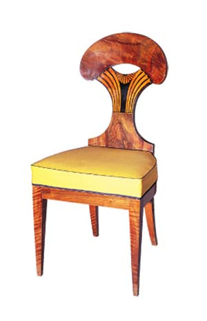 <P>Biedermeier Chair, circa 1825ViennaPhoto courtesy of Musée du Louvre </P> • <P> </P>