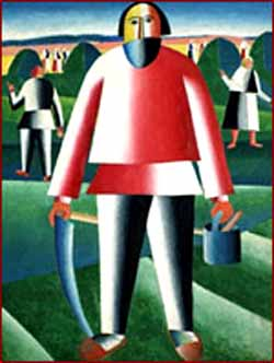 K.S.Malevich: <EM>Haymaking,</EM> 1909 Oil on canvas. 85,8 x 65,6Photo courtesy of State Tretyakov Gallery