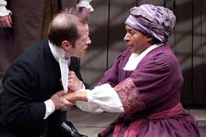 Ensemble members Tim Hopper and Ora JonesCredit: Michael BrosilowPhoto courtesy of  Steppenwolf Theatre