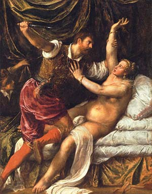 <P>Titian: <EM>Tarquin and Lucretia</EM> Photo courtesy of Kunsthistorisches Museum </P>