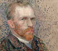 Van Gogh: <EM>Self Portrait</EM> Three Quarters to the Right (detail), 1887Van Gogh Museum, Amsterdam <FONT size=1></FONT>