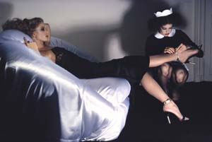 Guy Bourdin: <EM>Mistress & Maid</EM>, GB 019, Charles Jourdan, Autumn 1977 © 2008 The Guy Bourdin EstatePhoto courtesy of  KunstHausWie