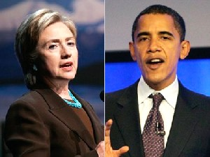 <P>Senators Hillary Clinton and Barack ObamaPhoto: AP</P> • <P> </P>