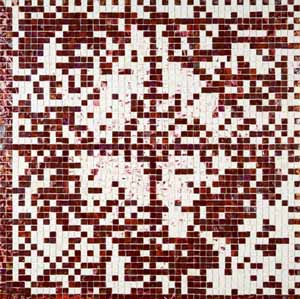 Jack Whitten: <EM>E-Stamp III (Red Velvet: For Marcia Tucker),</EM>2007Photo courtesy of  Atlanta Contemporary Art Center