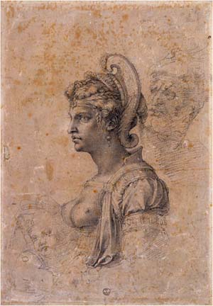 Michelangelo: <EM>Bust of a Woman, Head of an Old Man and Bust of a Child</EM>Photo courtesy of The Morgan Library & Museum