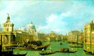 Canaletto: <EM>The mouth of the Grand Canal looking west towards the Carità</EM>c.1729-30The Royal Collection © 2008,Her Majesty Queen Elizabeth IIPhoto courtesy of The Royal Collection