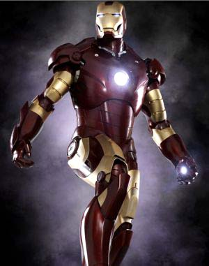 Robert Downey Jr. in <EM>Iron Man</EM>, 2008. Costumes by Rebecca Bentjen and Laura Jean Shannon. Iron Man suit created by Stan Winston Studios and Marvel© 2008 MVLFFLLC. TM and © 2008 MarvelAll Rights ReservedPhoto: Jamie BiversCourtesy of Paramount Pictures Photo courtesy of Metropolitan Museum of Art