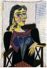 <P>Pablo Picasso: <EM>Portrait of Dora Maar</EM>, 1937, ParisOil on canvas© Picasso Succession, 2008Photo courtesy of The Emirates Palace </P> • <P> </P>