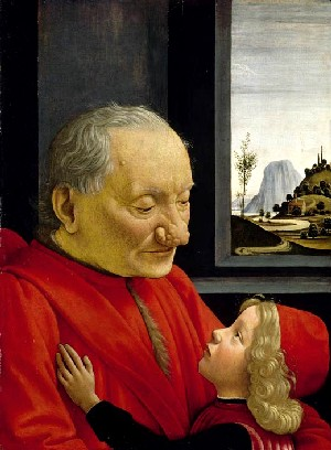 Domenico Ghirlandaio: <EM>Old Man and his Grandson</EM>Oil on panel, 62.7 x 46.3 cmMusée du LouvreParis
