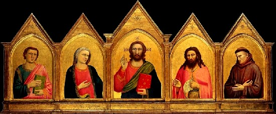 Giotto�s Polyptych  of the Peruzzi Chapel in Santa Croce in Florence, circa1315