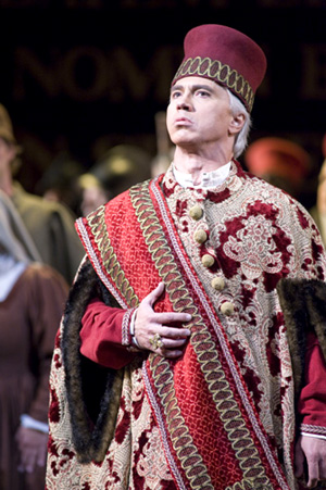 Dmitri Hvorostovsky as Simon BoccanegraPhoto courtesy of San Francisco Opera