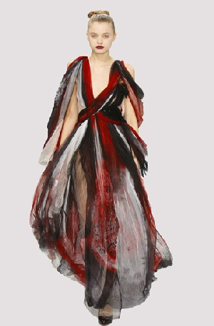 Rodarte: Evening dressHand-dyed silk gauzeFall 2008, USAMuseum purchase, 2008.55
