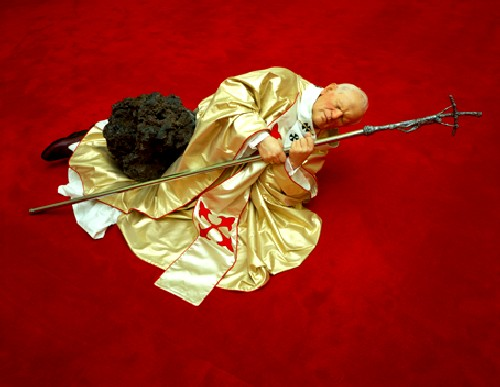 Cattelan: La Nona Ora (The Ninth Hour), 1999