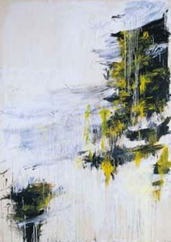 <P class=nombreArtista>Cy Twombly (Lexington, U.S.A., 1928) <EM>Four Sesons (Spring, Summer, Fall, Winter)</EM>Part IV: <EM>Winte</EM>rAcrylic, oil stick, oil paint and lead pencil on canvas313.5 x 220,5 cmCatalogue raisonné: PIV, nr.64</P>
