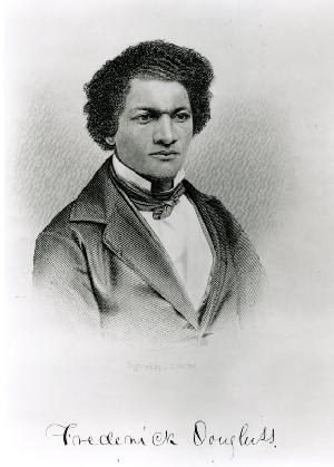 Born into slavery in Maryland, Frederick Douglass (1818-1895) escaped in 1838, and went on to become a celebrated abolitionist, orator, journalist, reformer and public servant. He served as a recruiting agent for the Union Army and was President of the Reconstruction era Freedman's Bank.