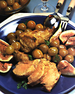 Filet mignon of pork with mirabelles