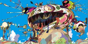 <P>Takashi Murakami<EM>Tan Tan Bo Puking - a.k.a. Gero Tan</EM>, 2002Acrylic on canvas mounted on board360 x 540 x 6.7 cm (141 3/4 x 283 7/16 x 2 5/8 inches)Collection of Amalia Dayan and Adam LindemannCourtesy of Galerie Emmanuel Perrotin, Paris andMiami©2002 Takashi Murakami/Kaikai Kiki Co., Ltd. All Rights Reserved Photo courtesy of Guggenheim Museum Bilbao </P>