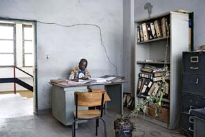 <P>Guy Tillim: City Hall offices, Lubumbashi, DR Congo, 2007Photo courtesy of Peabody Museum of Archaeology and Ethnology </P>