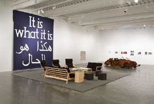 Jeremy Deller: <EM>New Commissions: It Is What It Is: Conversations About Iraq</EM>, 2009Installation view, New Museum, New YorkPhoto: Benoit PailleyPhoto courtesy of New Museum