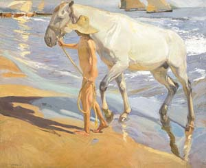Joaquim Sorolla: <EM>The Horse's Bath</EM>Oil on canvas, 205 x 250 cm. 1909. MadridMuseo Sorolla Photo couresy of Museo Nacional del Prado