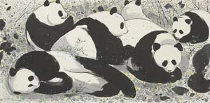 Wu Guangzhong: <EM>Pandas</EM>, 1992Photo courtesy of The Singapore Art Museum