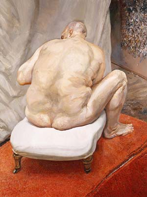 Lucian Freud: <EM>Naked Man, Back View</EM>, 1991–92Oil on canvas 72 1/4 x 54 1/8 in. (183.5 x 137.5 cm)Purchase, Lila Acheson Wallace Gift, 1993 (1993.71)The Metropolitan Museum of ArtPhoto courtesy of The Phillips Collection
