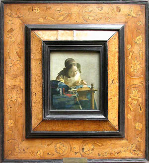 Johannes or Jan VermeerDelft, 1632-1675<EM>The Lacemaker</EM>Painted quite late in the artist's career, c. 1669-70© Musée du Louvre/A. Dequier - M. Bard Photo courtesy of The National Museum of Western Art, Tokyo