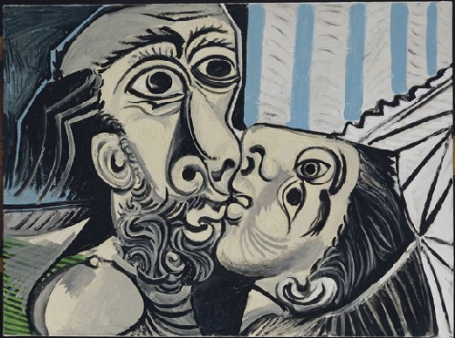 Pablo Picasso: The Kiss (1969) � Succession Picasso 2009 Kuvasto; � photo RMN / Jean-Gilles Berizzi