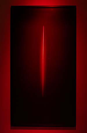 James Turrell: <EM>Untitled (11NOR),</EM>  2008Transmission light work73-1/2 x 39-1/2 in. © James Turrell