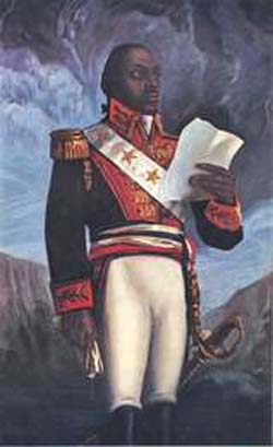 François-Dominique Toussaint L'Ouverture (1743 - 1803)Photo courtesy of PBS Television