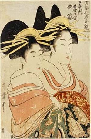 Kitagawa Utamaro (1753?-1806) ôban, colour woodblock printPhoto courtesy of Art Gallery of New South Wales