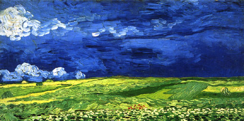 Fields with blue sky - Van Gogh
