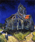 The little grey church - Van Gogh (1890)
