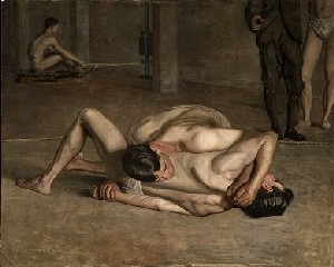 Thomas Eakins (1844-1916): <EM>Wrestlers</EM> (1899)Photo courtesy of Los Angeles County Museum of Art