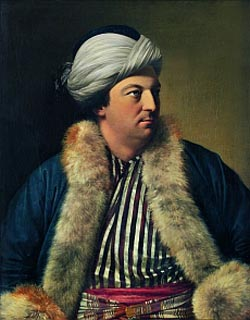 Jean-Etienne Liotard<EM>Simon Lutrell of Lutrellstown in Turkish Costume</EM>, ca. 1754 oil on canvas, 83 x 63 cm Kunstmuseum Bern, Stadt Bern, Bern