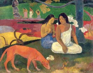 Paul Gauguin:<EM> Arearea (Joyousness), </EM>1892Oil on canvasMusee d'Orsay