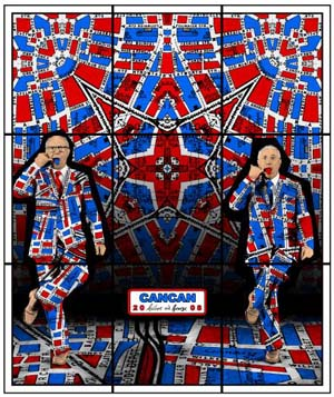 Gilbert & George: <EM>Jack Freak Pictures</EM>Photo courtesy of Palais des Beaux-Arts