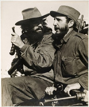 Luís Korda: <EM>Fidel Castro and Comandante Camilo Cienfuegos entering Havana</EM>,January 8, 1959© The Korda Estate, Havana, CubaCourtesy International Art Heritage Foundation