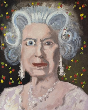 George Condo: <EM>The Insane Queen</EM>, 2006Oil on canvas, 20 x 16 in (50.8 x 40.6 cm)Collection Per Skarstedt© George Condo 2010