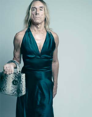 Iggy Pop with Dior Bag