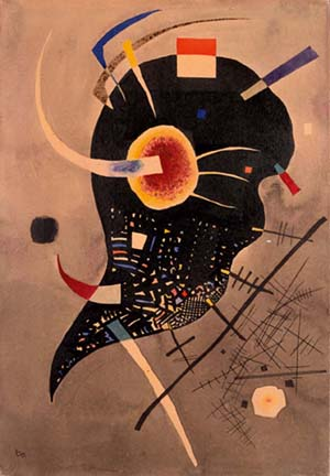 Vassily Kadinsky: <EM>Tension noire</EM>, 1925Encre de Chine and gouache on paper46 x 33 cmCopyright Adagio Paris 2011