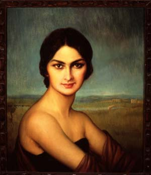 Julio Romero de Torres: Portrait of a Woman, ca. 1925Oil on canvasPerez Simon Collection