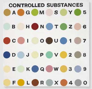 Damien Hirst: <EM>Spot check: Controlled Substance Key Painting</EM>, 1994