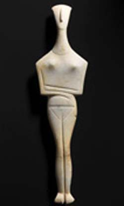 Cycladic idol, believed to be from the island of Amorgos, ca. 2700-2400/2300 BCE© National Museums in BerlinCollection of Classical AntiquitiesPhoto: Johannes Laurentiusend of legend